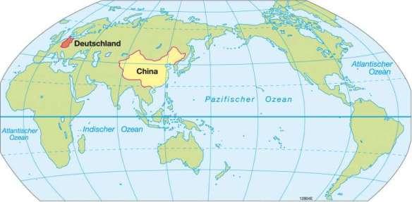 China Weltkarte
